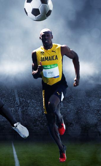 Usain Bolt-baller!