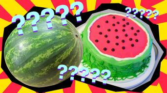 a watermelon and cake imposter