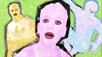 celebs covered in glitter