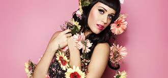 Katy Perry covered in pretty flowers