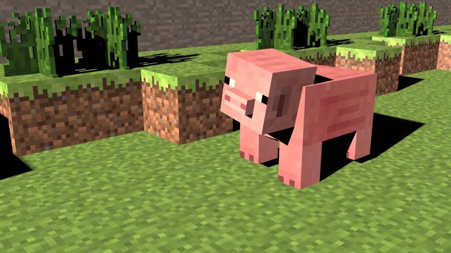 Minecraft pigs