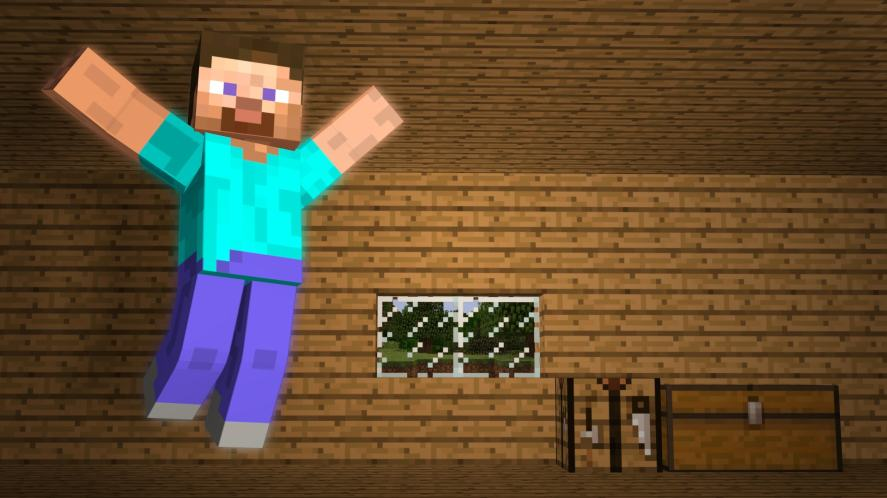 Happy Steve from Minecraft