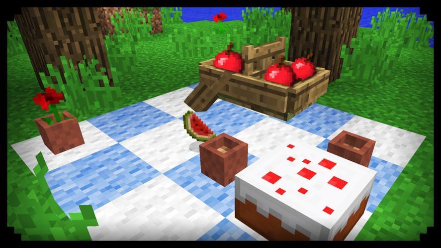 A lovely Minecraft picnic!