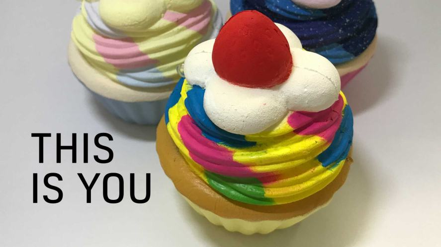 Colourful Cupcake Squishy