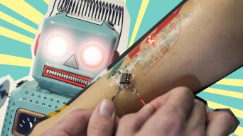 robot and a robot tattoo