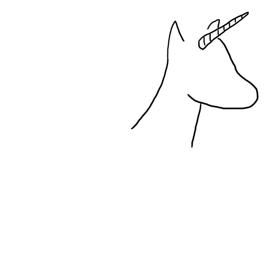Unicorn head on a unicorn neck