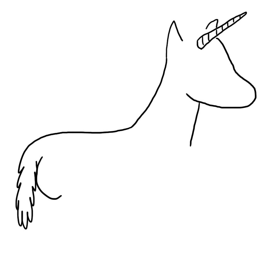 A unicorn with a butt haha