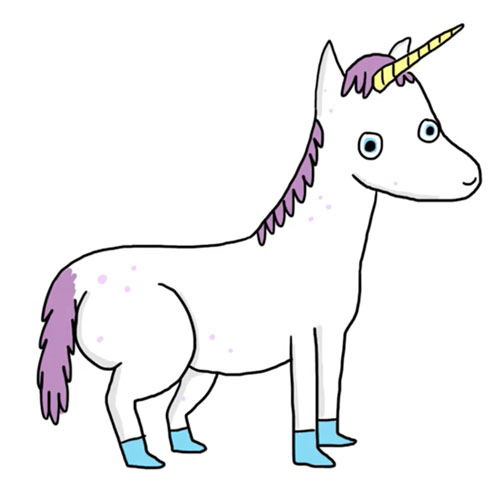 complete unicorn with shading