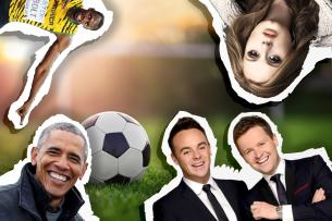 Celebs and footie!