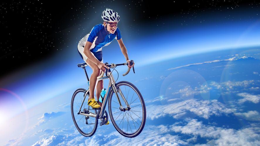 Teacher cycling over the world