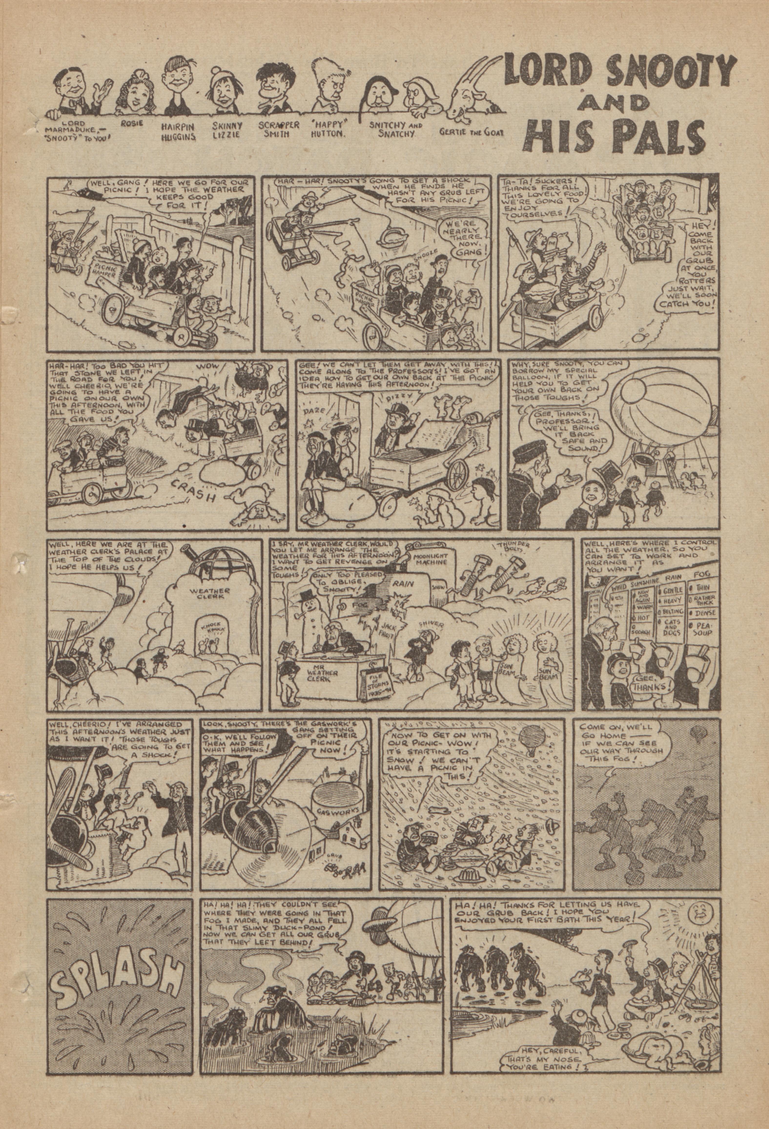Lord Snooty - Weather Clerk - 03/11/1990