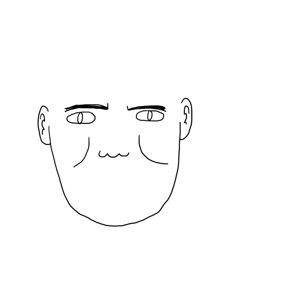 Simon Cowell almost has a face