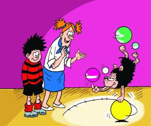 Gnasher shows off his talents