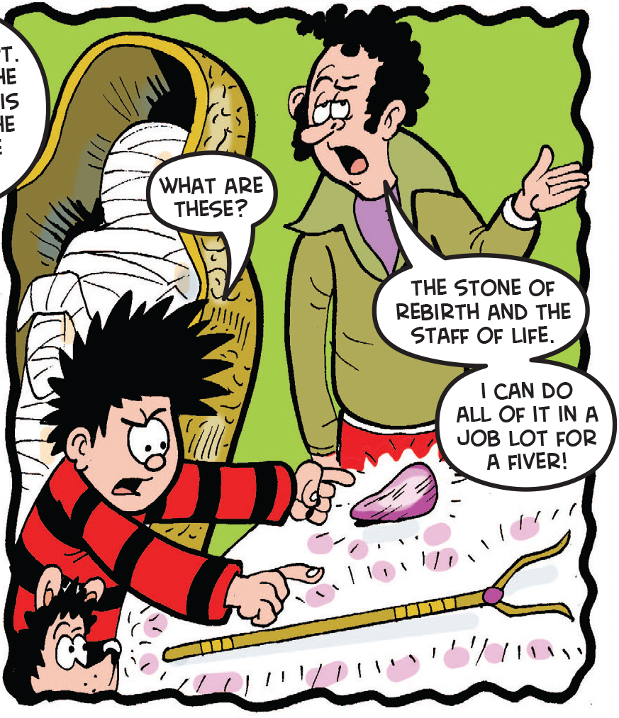 Dennis and the Curse of the Car Boot Mummy 7