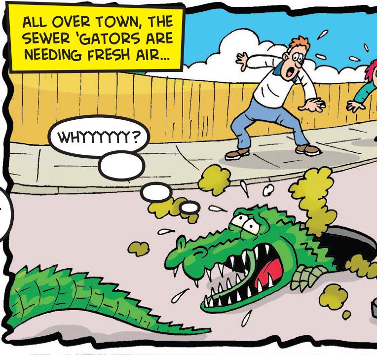 Croc Shock: Smells so bad...