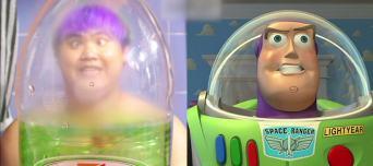 Buzzlightyear costume fail