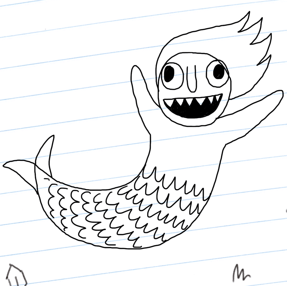 Mermaid complete! But it needs colour