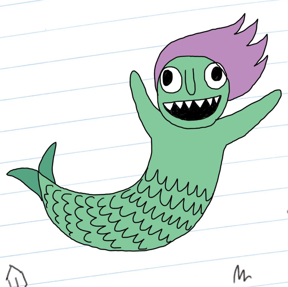 Mermaid in full technicolour