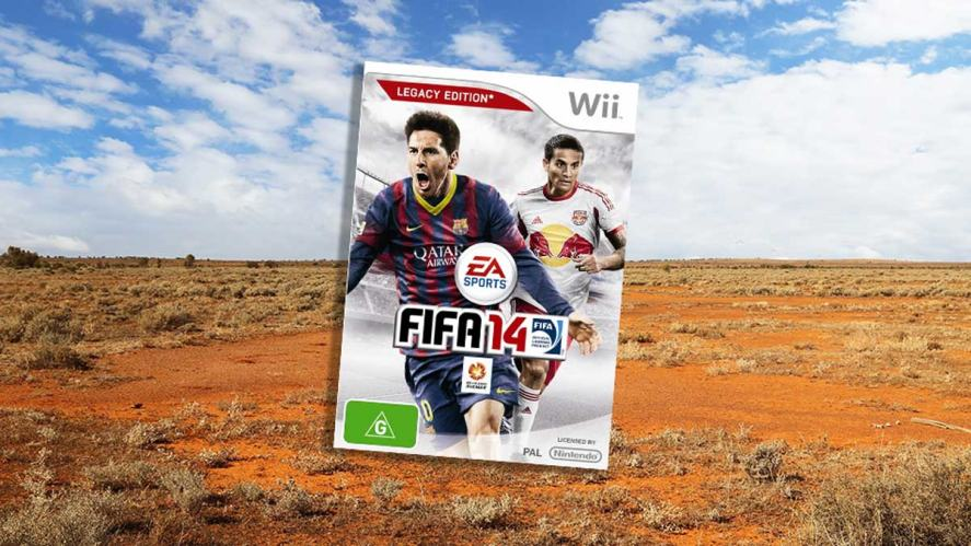 Tim Cahill on the cover of FIFA 14