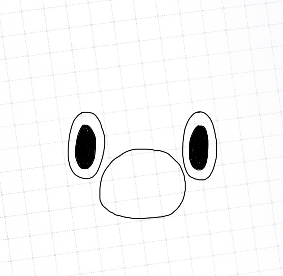 Mario nose and eyes