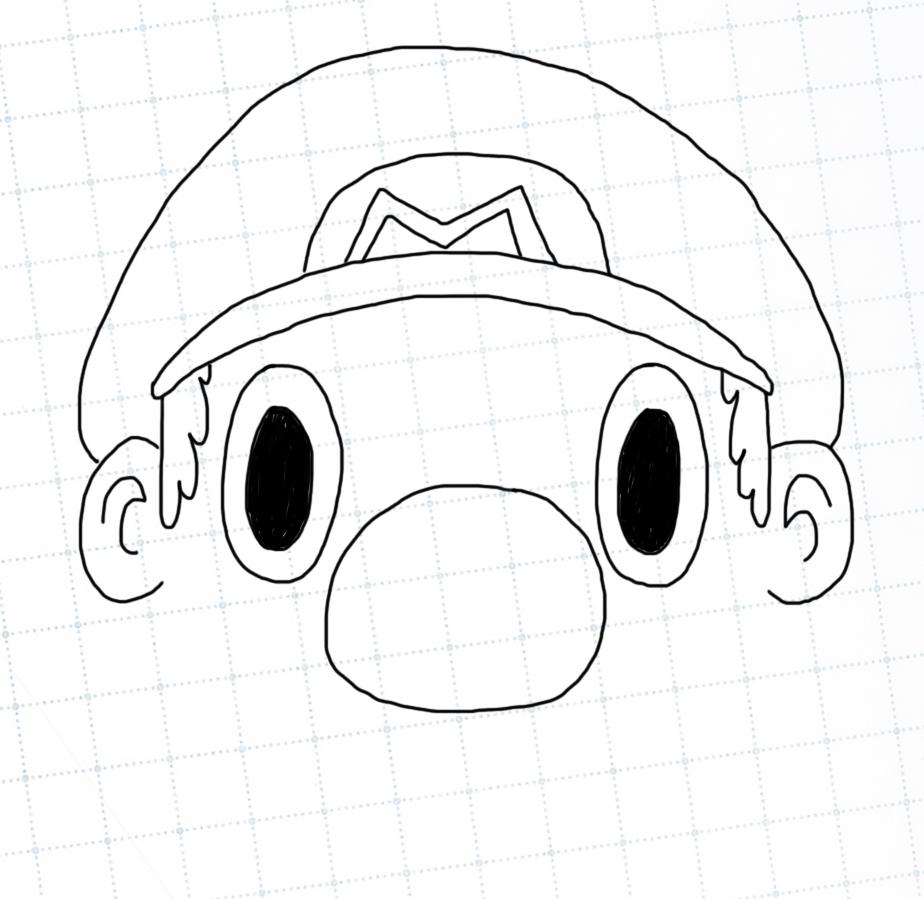 Mario has sideburns now