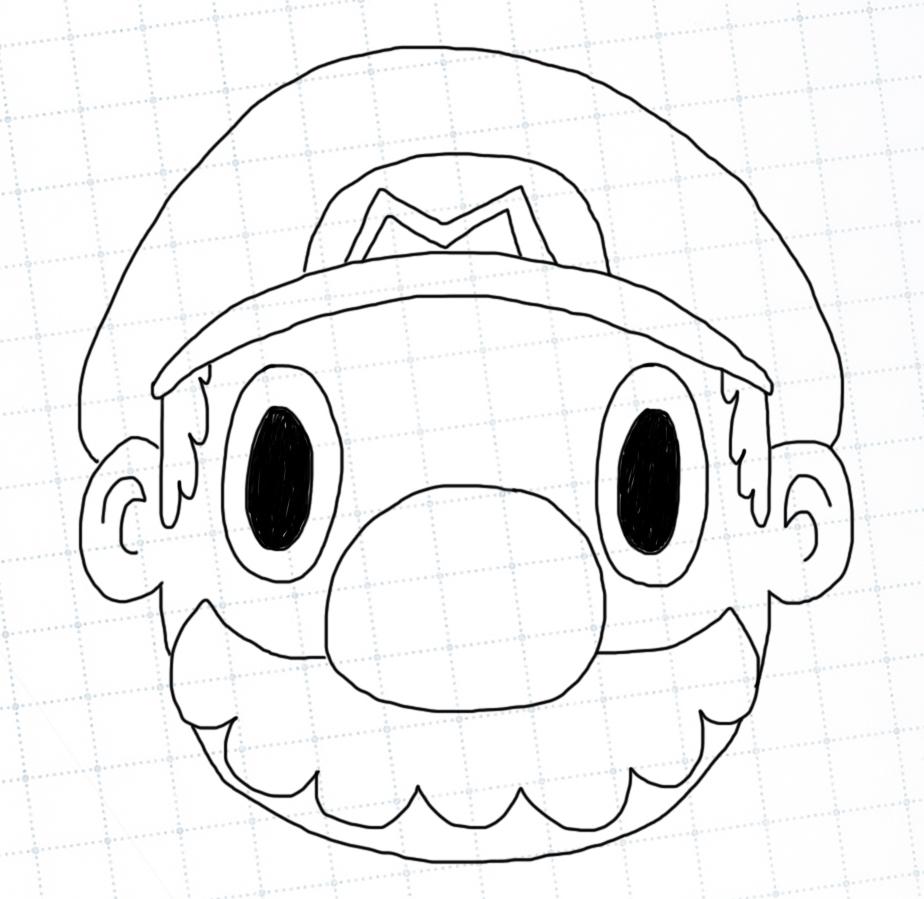 Outline of Mario's head