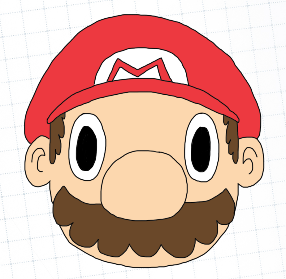 Mario all coloured in and drawn!