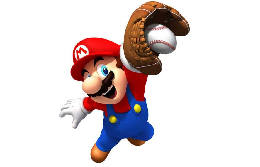 Mario playing a sport