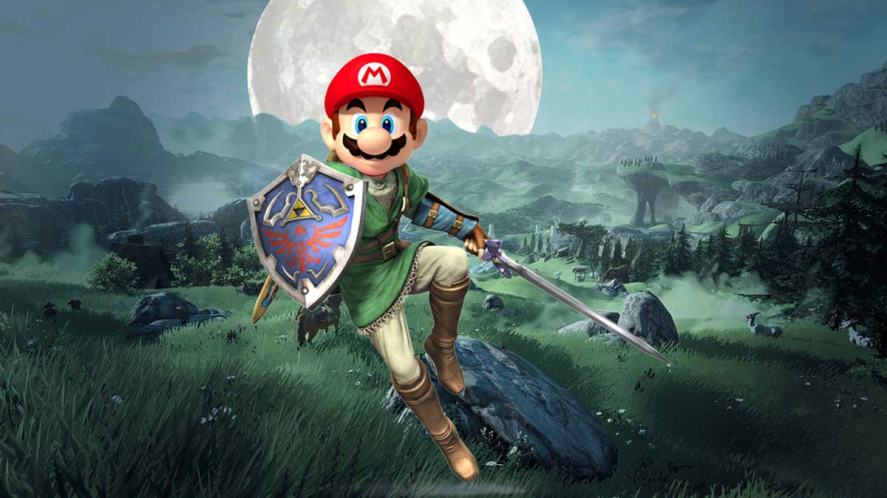 Mario in Zelda