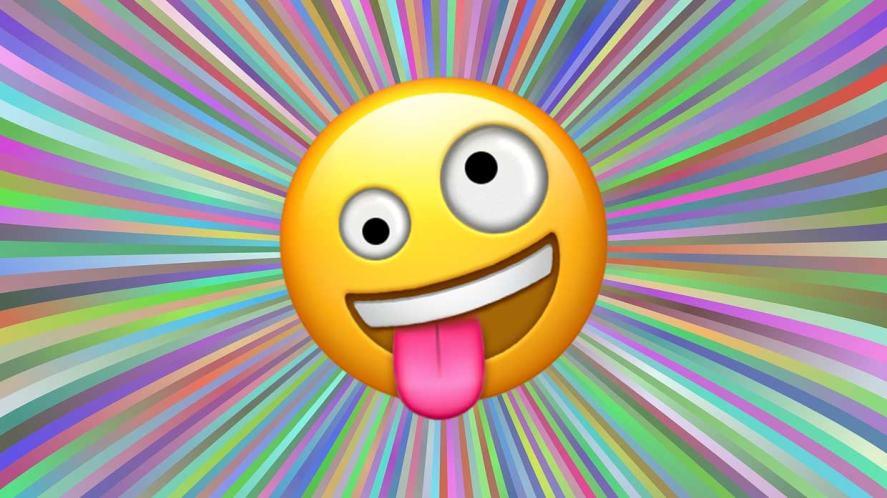 Silly face emoji