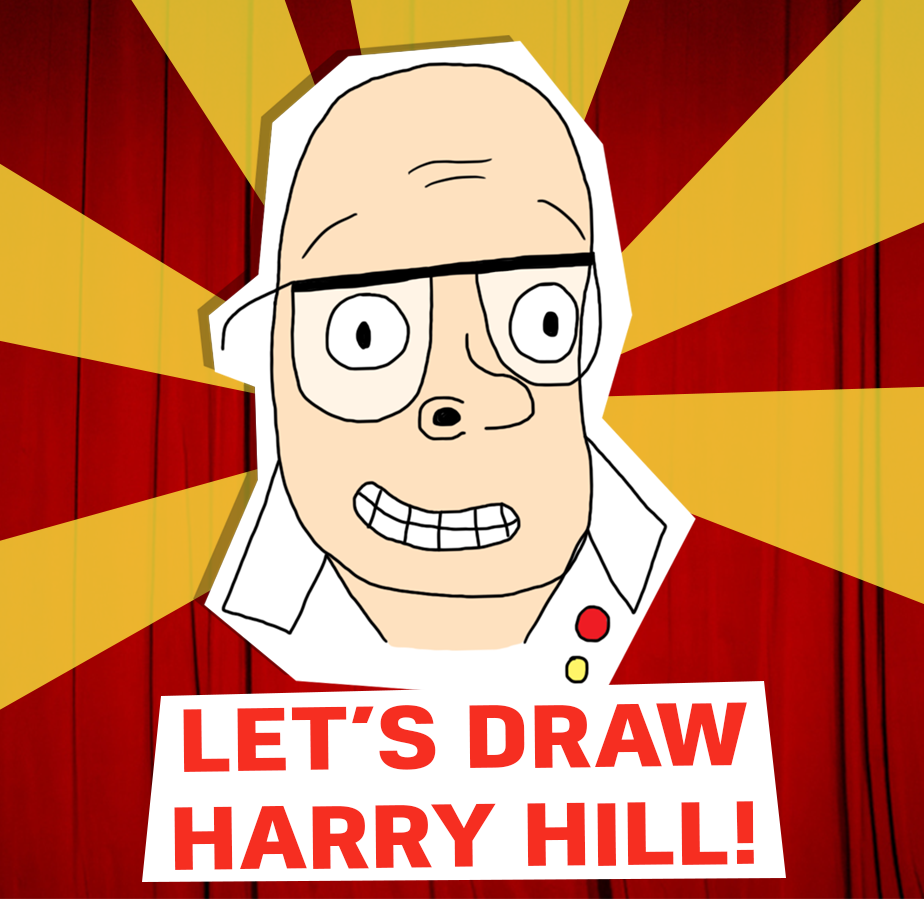 Let's draw harry hill