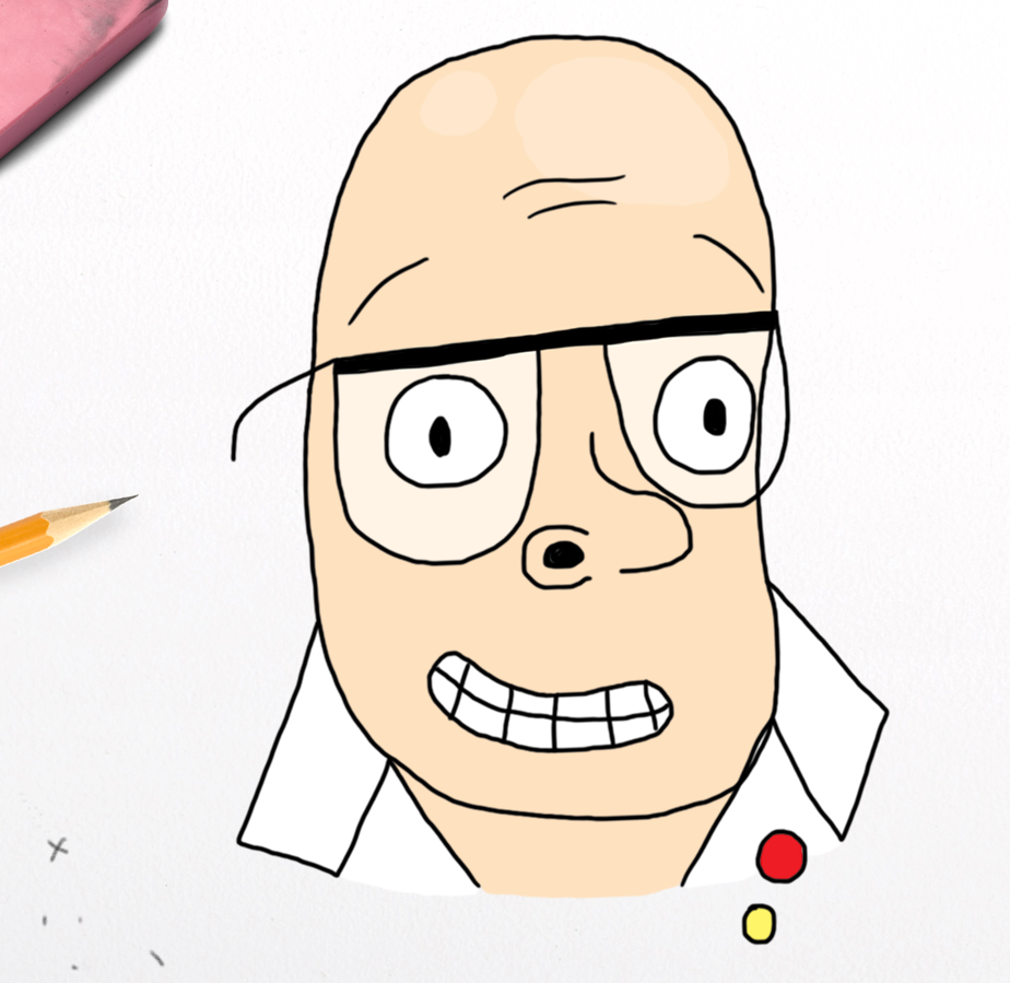 Harry Hill - all coloured and ready to go!