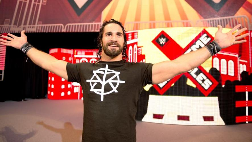 Wrestling quizzes: Seth Rollins holding up his arms