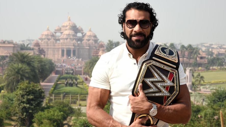 Man with champion belt