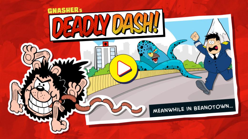 Gnasher's Deadly Dash Game