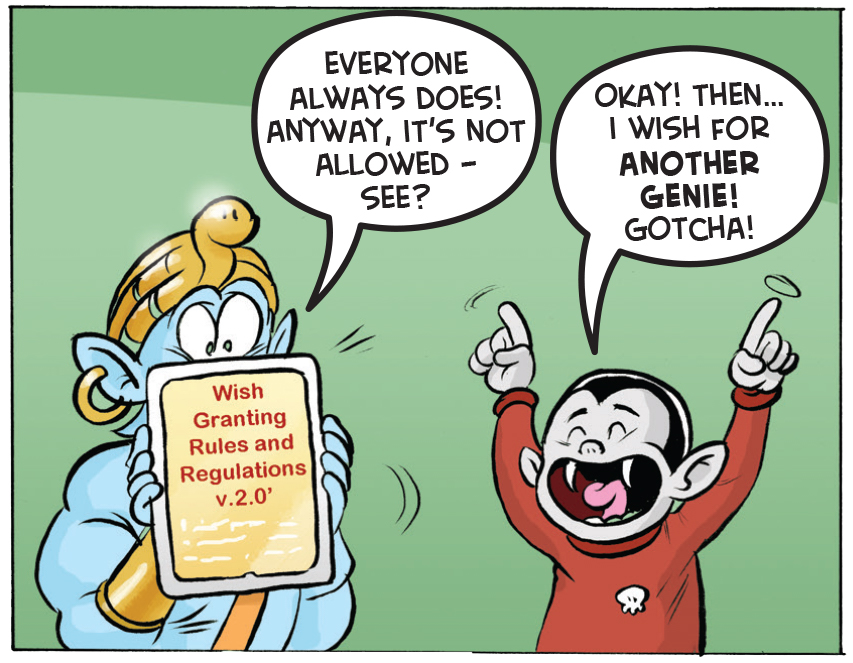 The genie rules and regulations - BORING!