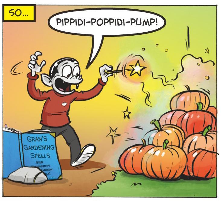 Practice magic on a pumpkin patch