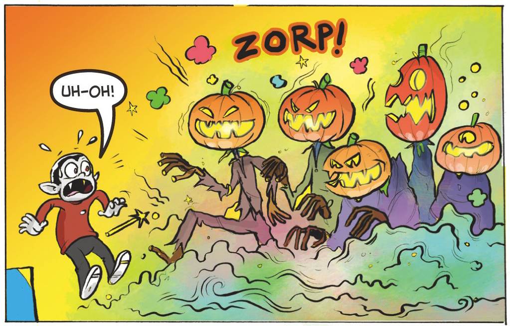 Spooky pumpkins spring to life!