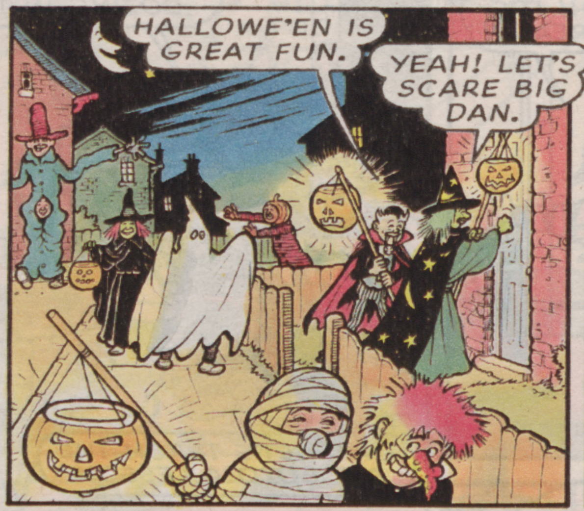 It's Halloween at Dan's place