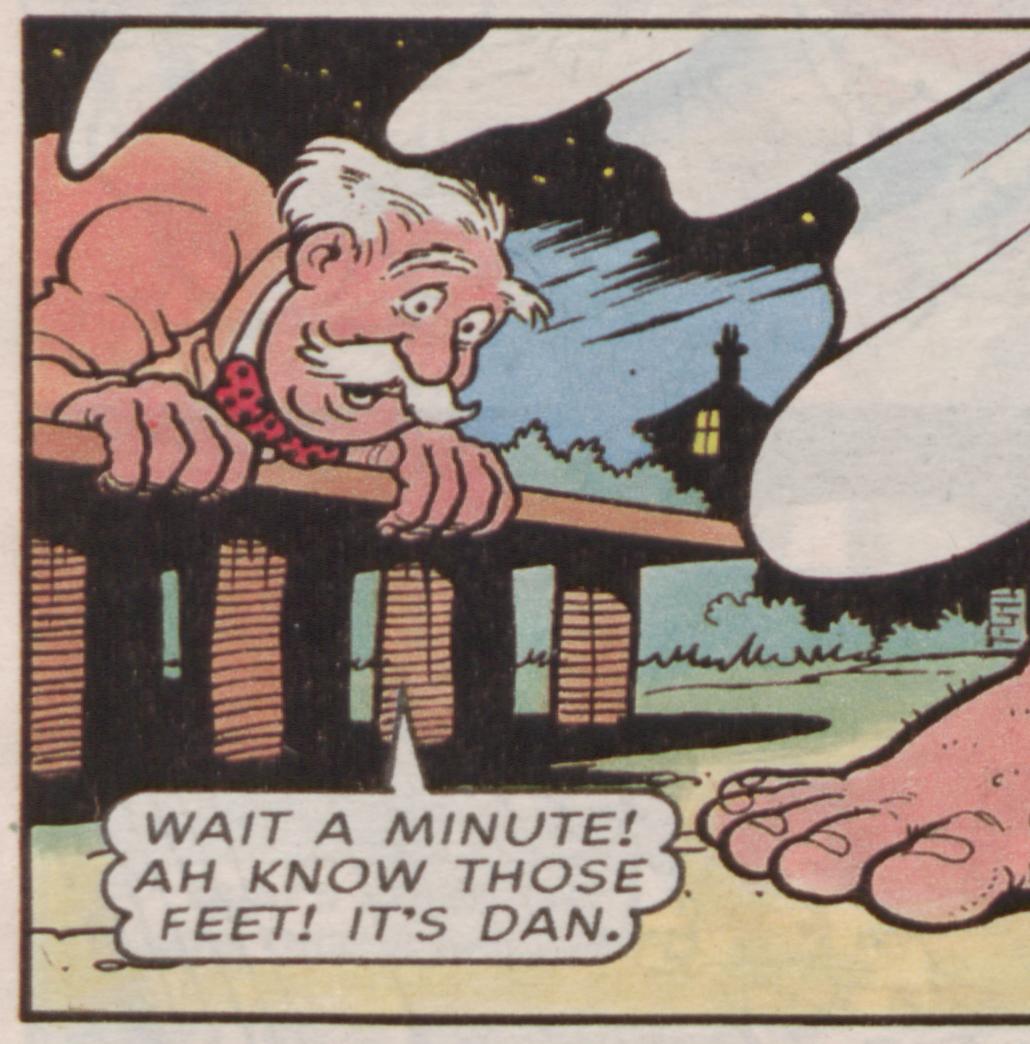 Wait a minute - whose feet are those?