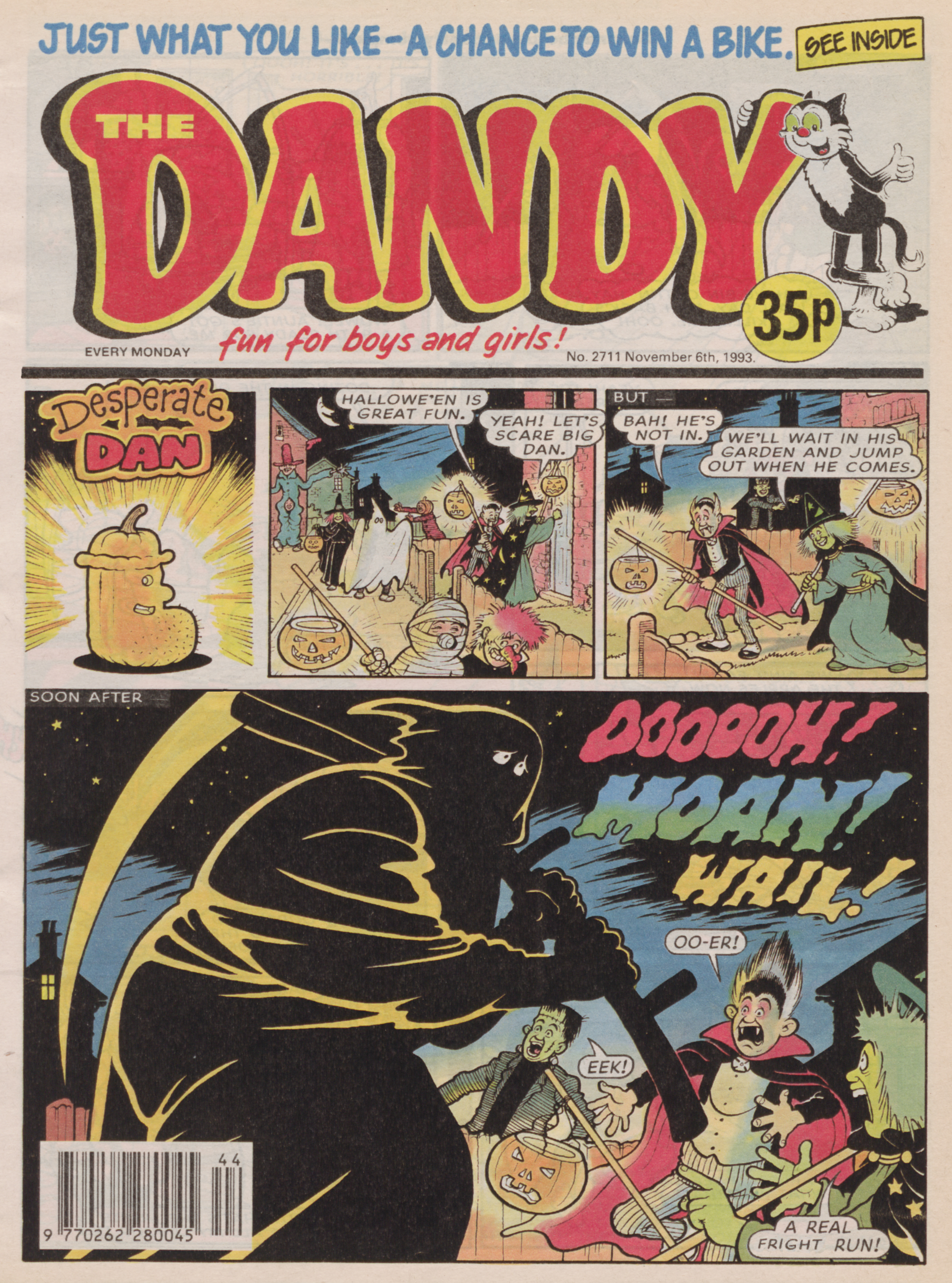 Desperate Dan: Dandy No. 2711, November 6th, 1993 COVER