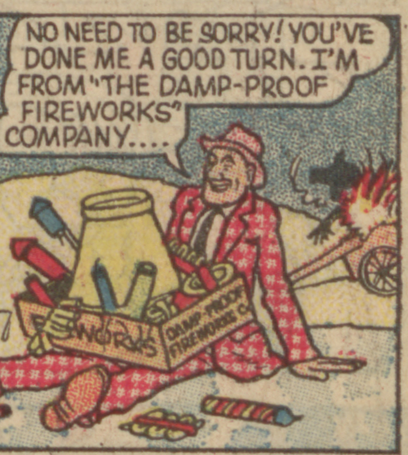 Biffo the Bear 1964 - Fireworks at play!