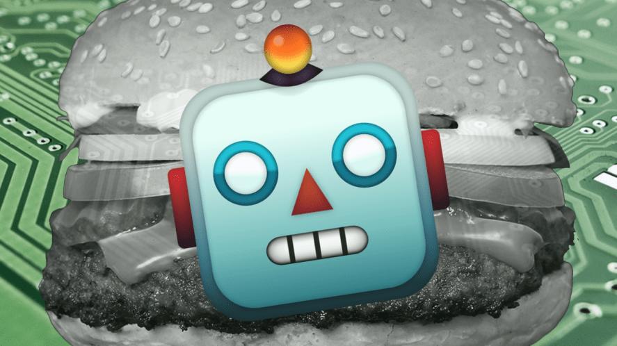 Robot burger emoji