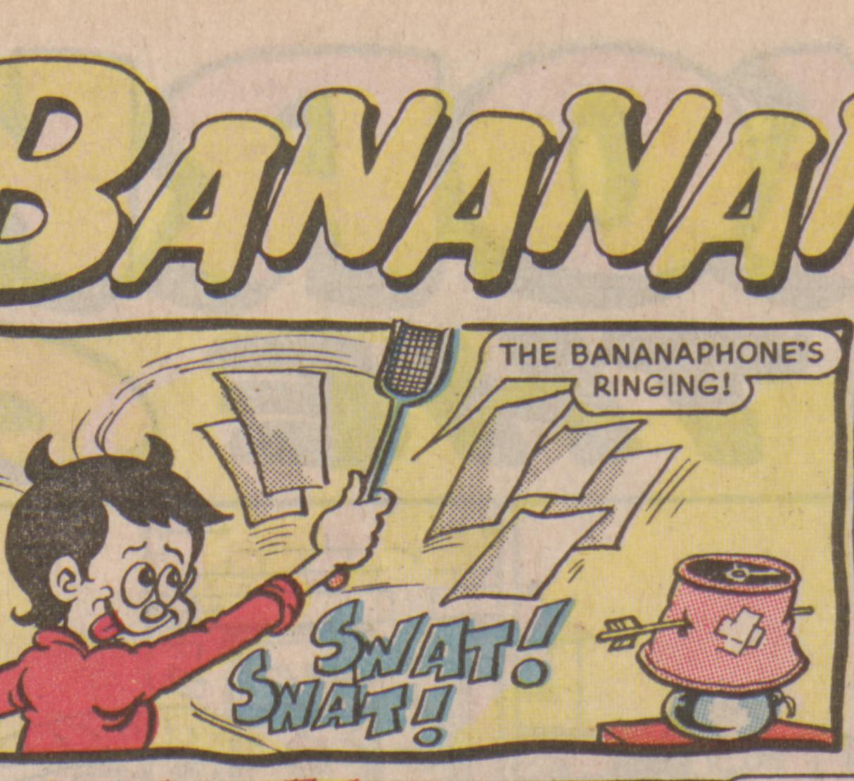 Bananaman 1985 - Little Eric swats and swots!