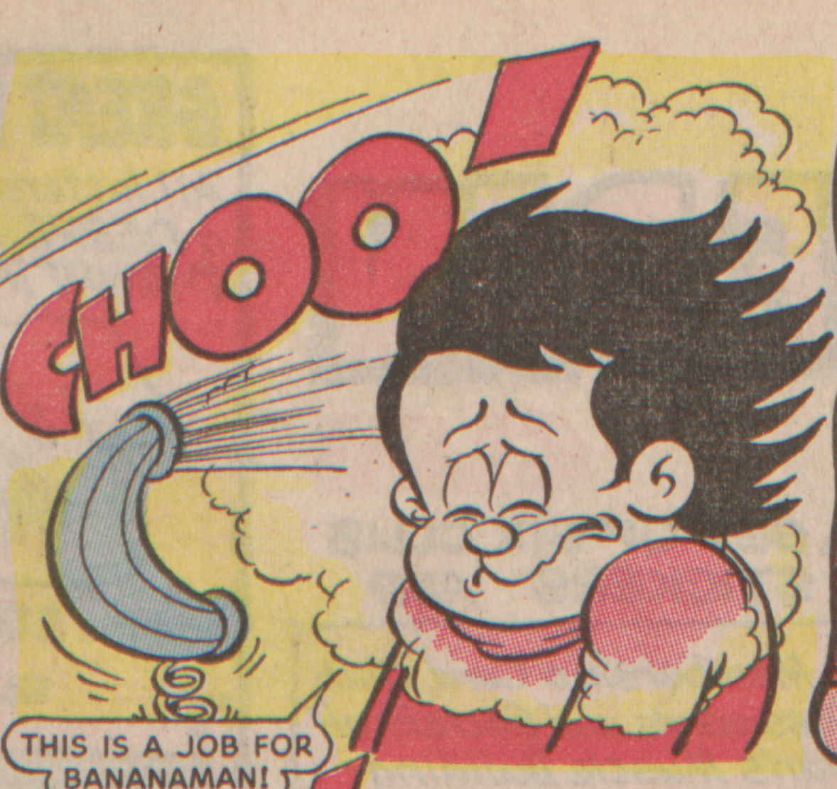 Bananaman 1985 - Sneeze epidemic