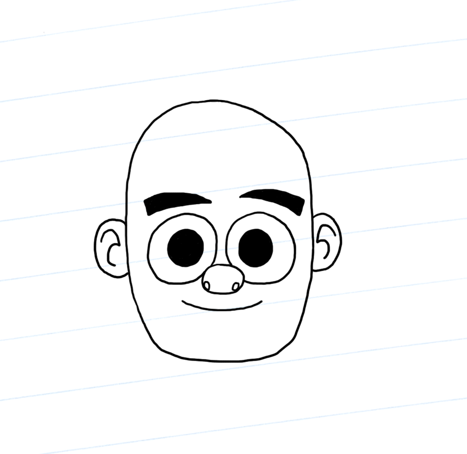 Bald Dennis with ears