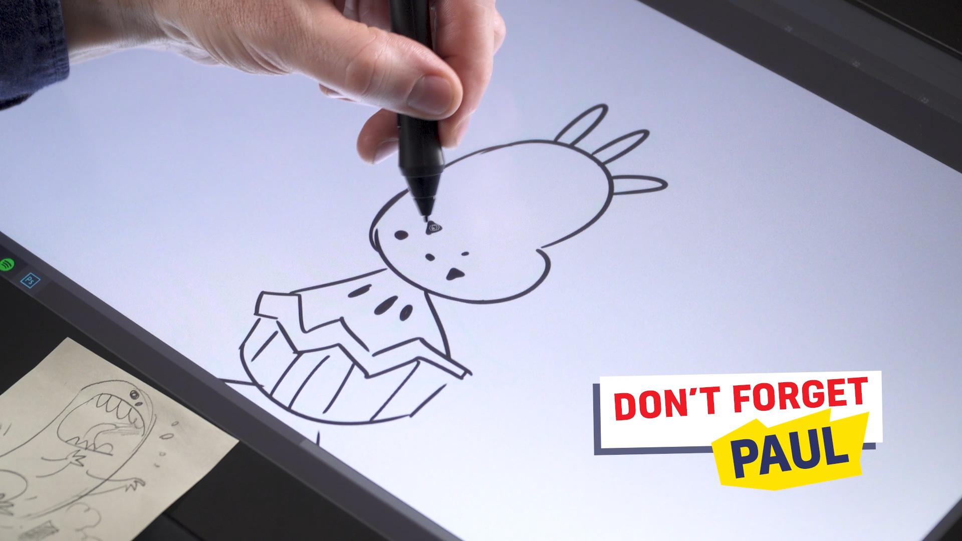 Ross drawing Paul the potato