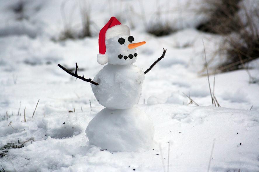 A normal snowman