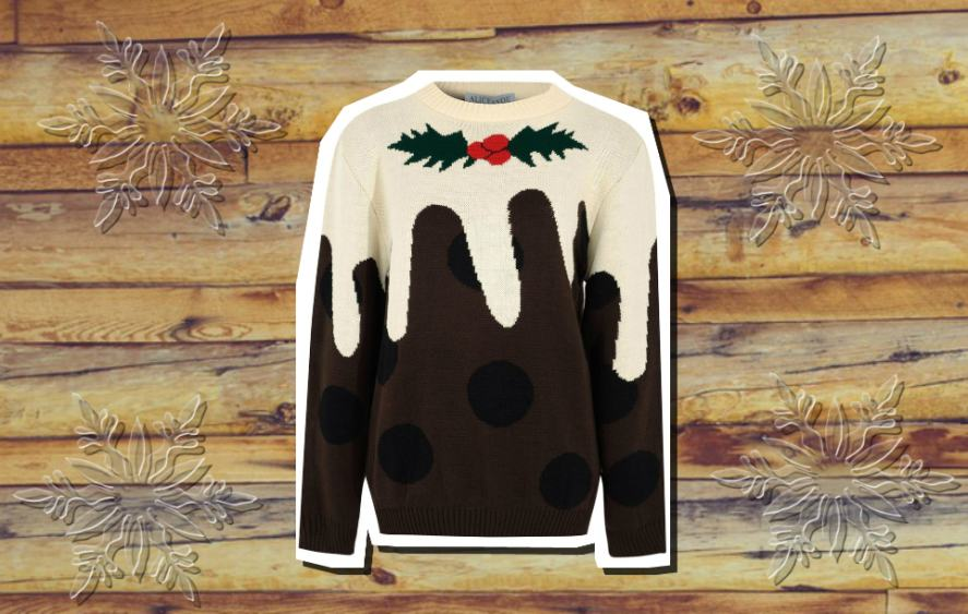 A Christmas pudding jumper