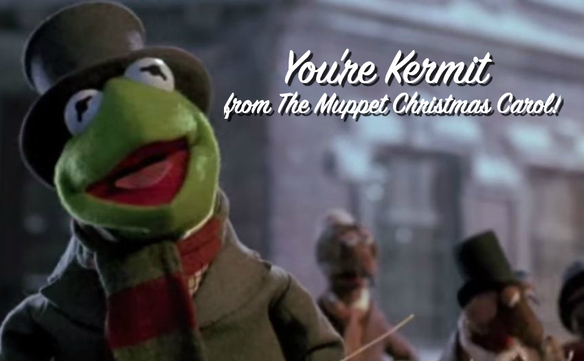 Kermit in The Muppet Christmas Carol Christmas Quiz